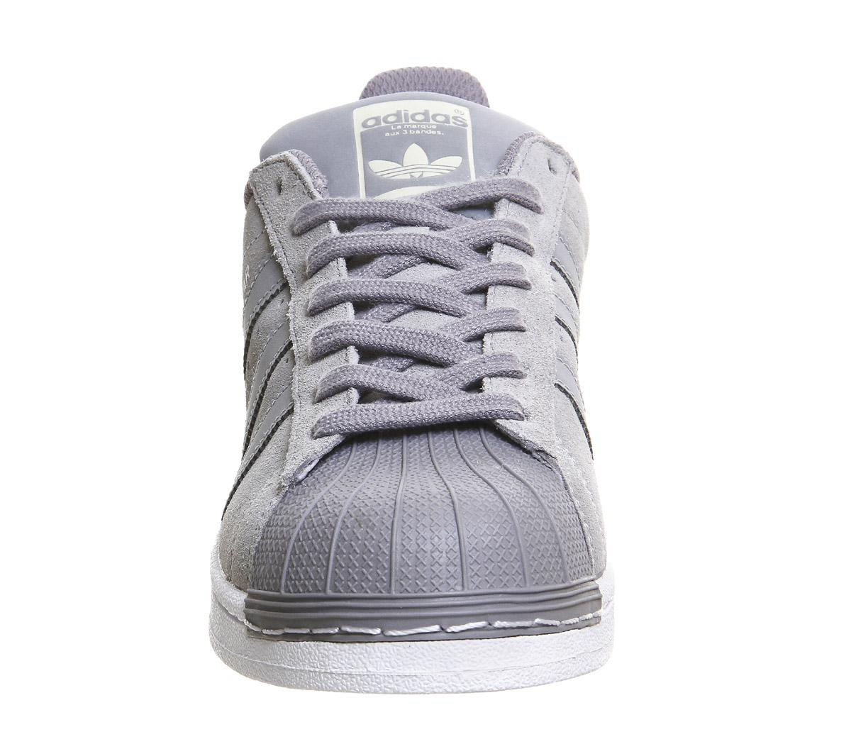 adidas Superstar 1 Suede and Leather Low-Top Sneakers in Grey (Grey) for Men