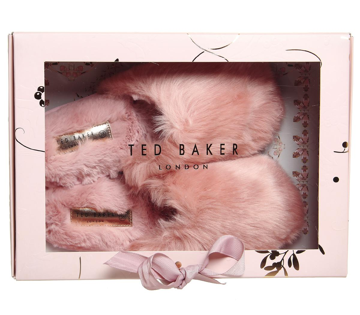 738ce9cfc1c784 Lyst - Ted Baker Phlufy Slippers in Pink