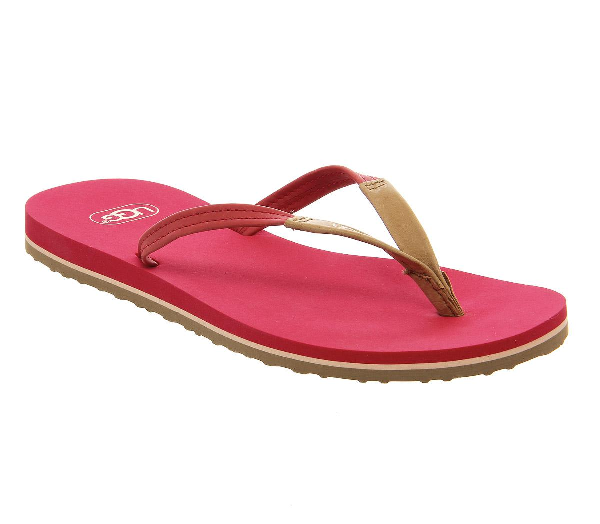 Ugg Leather Magnolia Flip Flop In Red - Lyst-1382