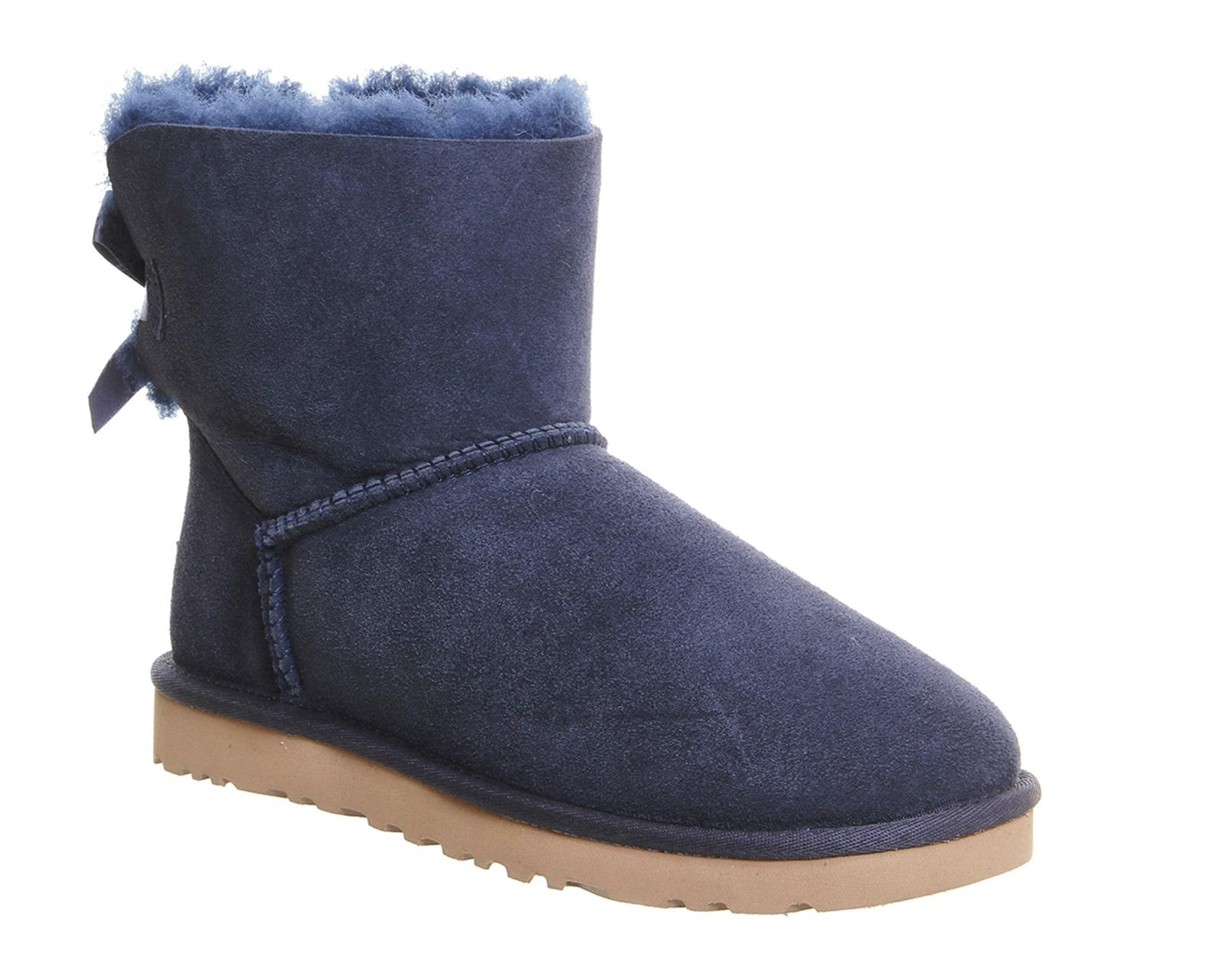 ugg mini bailey bow boots in blue lyst. Black Bedroom Furniture Sets. Home Design Ideas