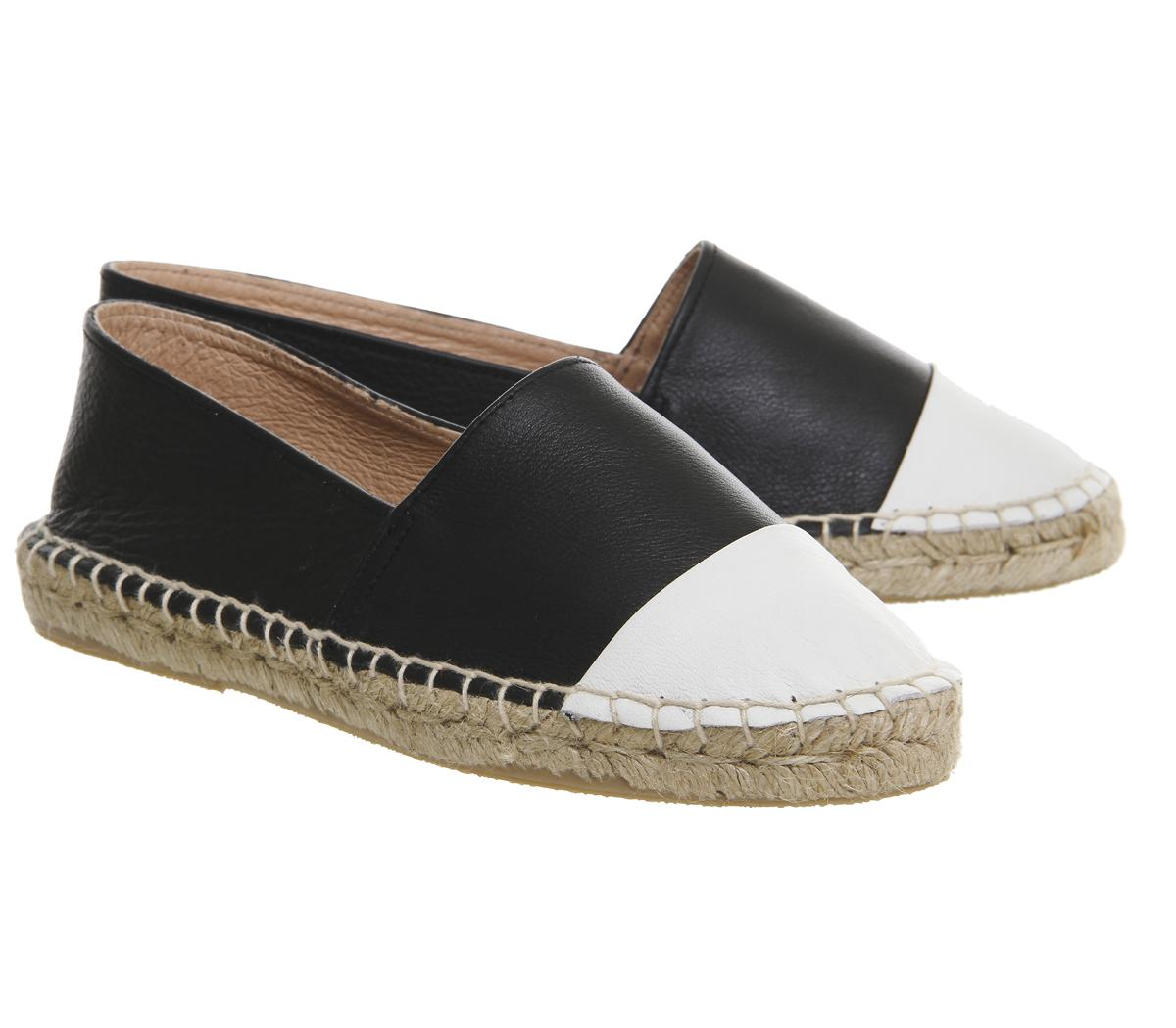 Office Leather Lucky Espadrilles in
