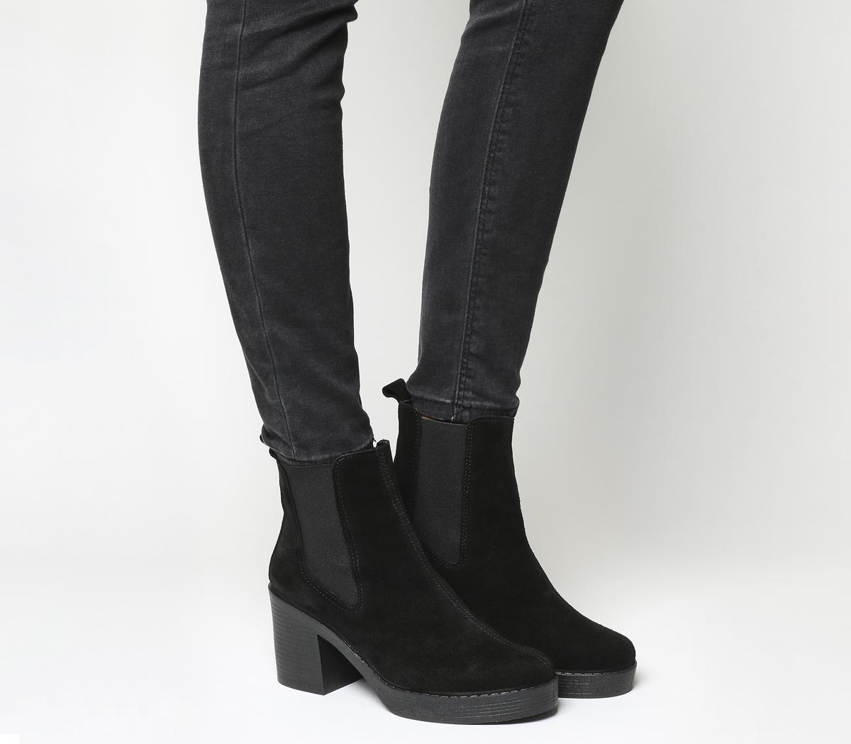 ce9d1d3a5aa Office Black Alesha Block Heel Chelsea Boots