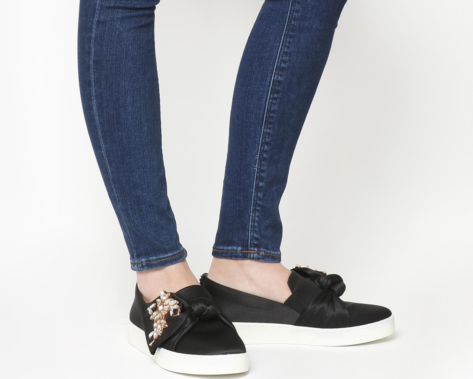 58ebe0a98b0a11 Ted Baker Tinzel Slip On Sneaker in Black - Lyst