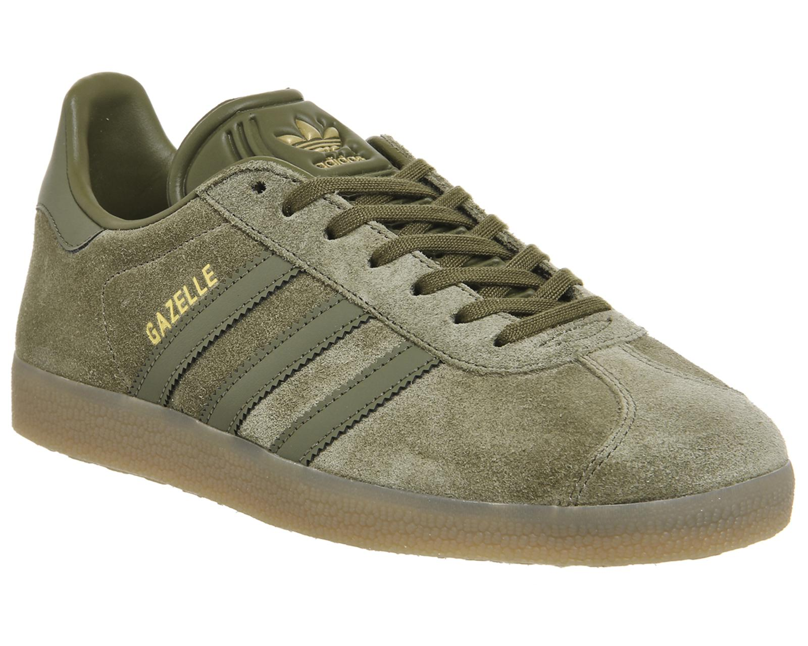 adidas Suede Gazelle Olive Shoe Bb5265 in Green for Men - Lyst