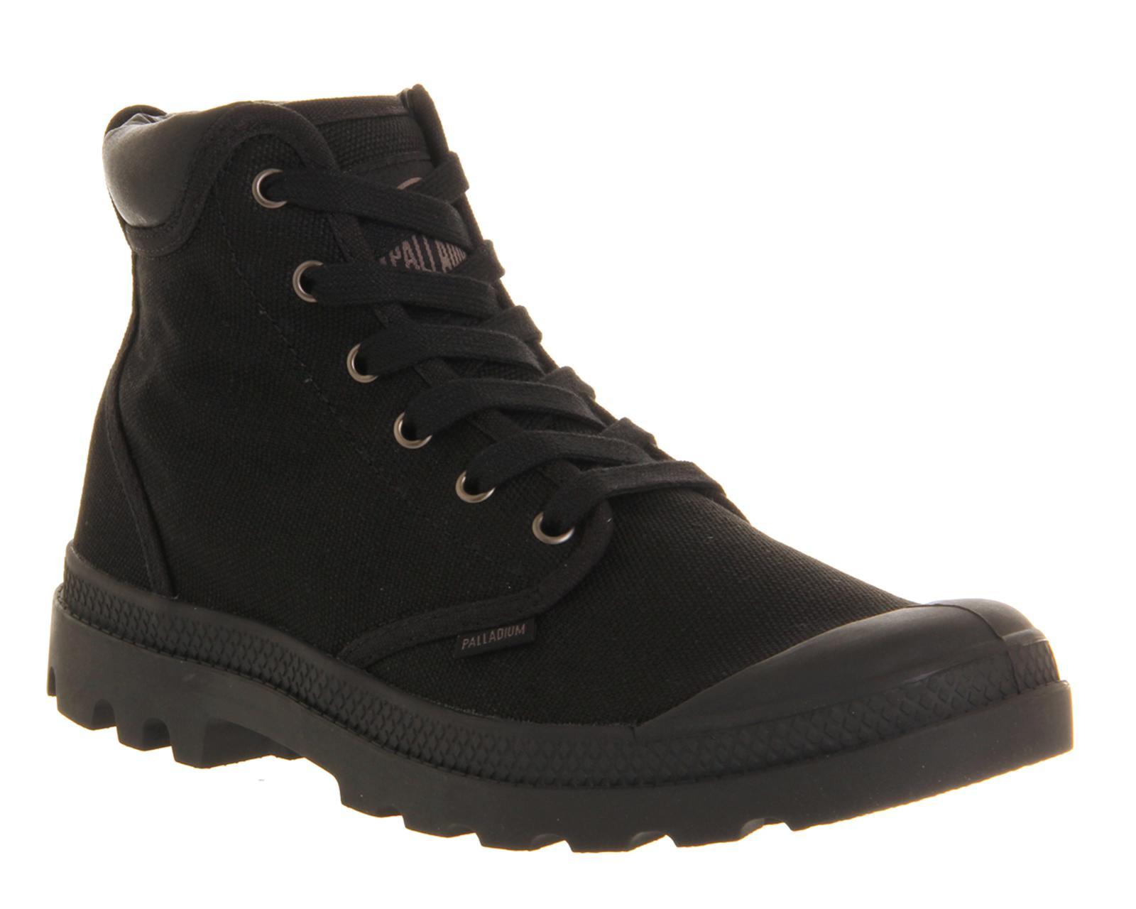 Palladium Pampa Hi Cuff Boots In Black For Men Lyst