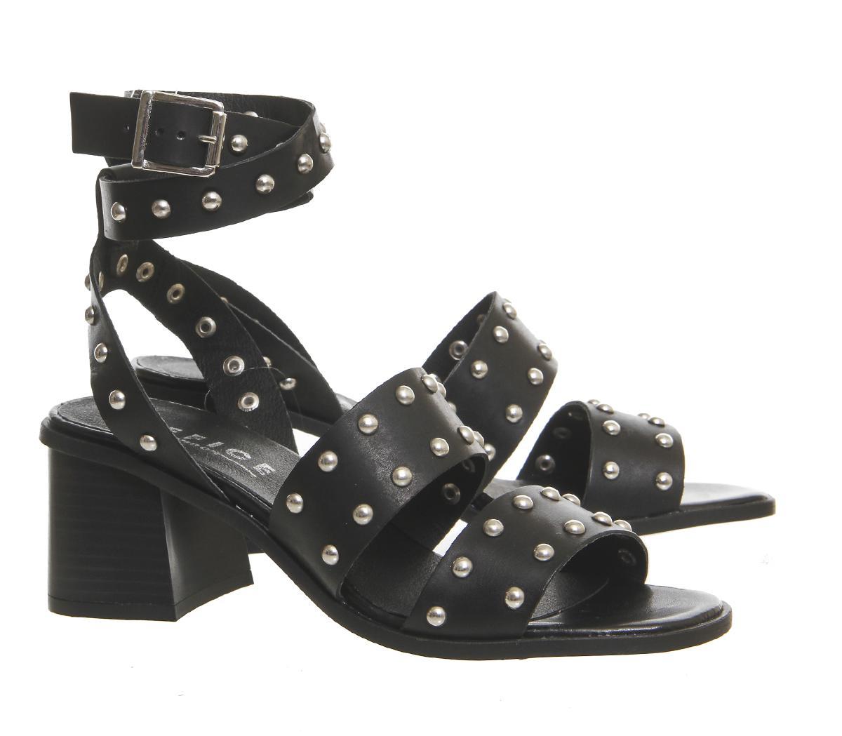 8d5175a973a Lyst - Office Fan Girl Studded Sandals in Black