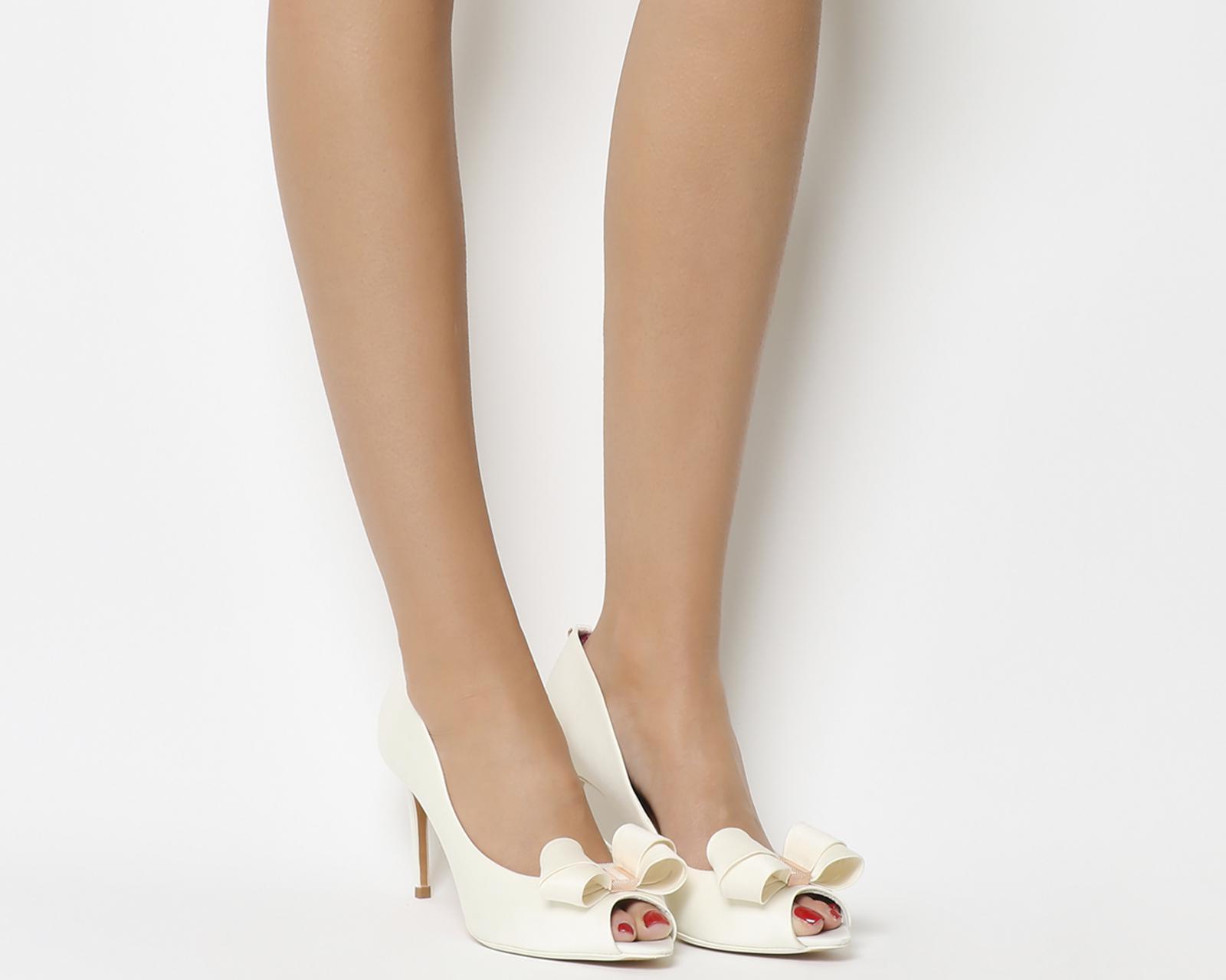 61ded4cafd94c Lyst - Ted Baker Vylett Peep Toe Heels in White