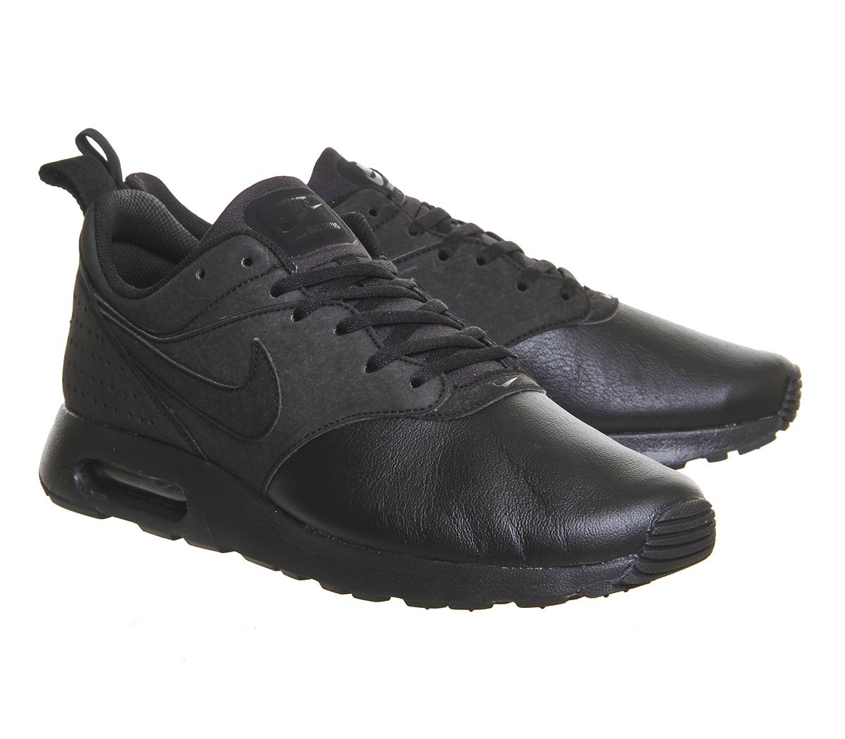 Nike Leather Air Max Tavas Low-Top Sneakers in Black Leather (Black) for Men