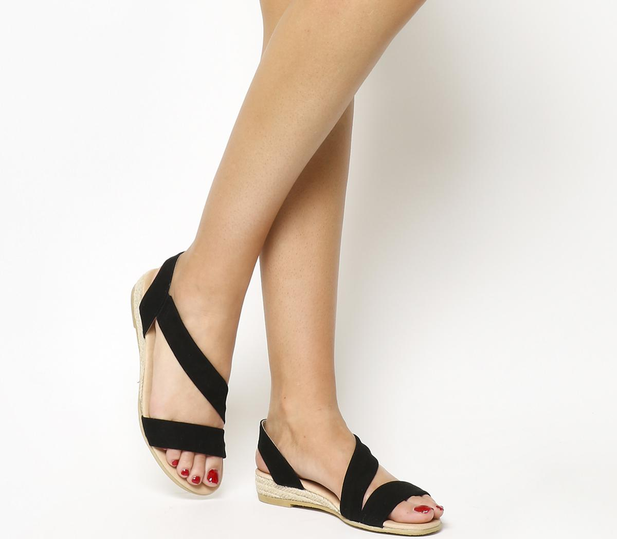 get cheap many fashionable more photos Office Suede Heidi Espadrille Sandals in Black - Lyst