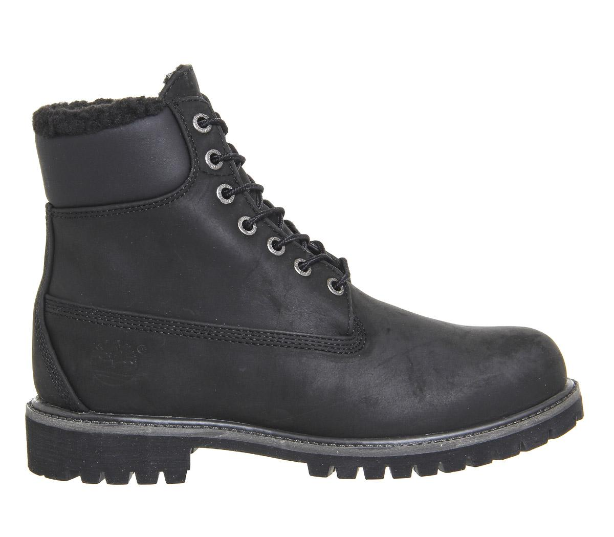 lyst timberland premium 6 inch warm lined boots in black. Black Bedroom Furniture Sets. Home Design Ideas