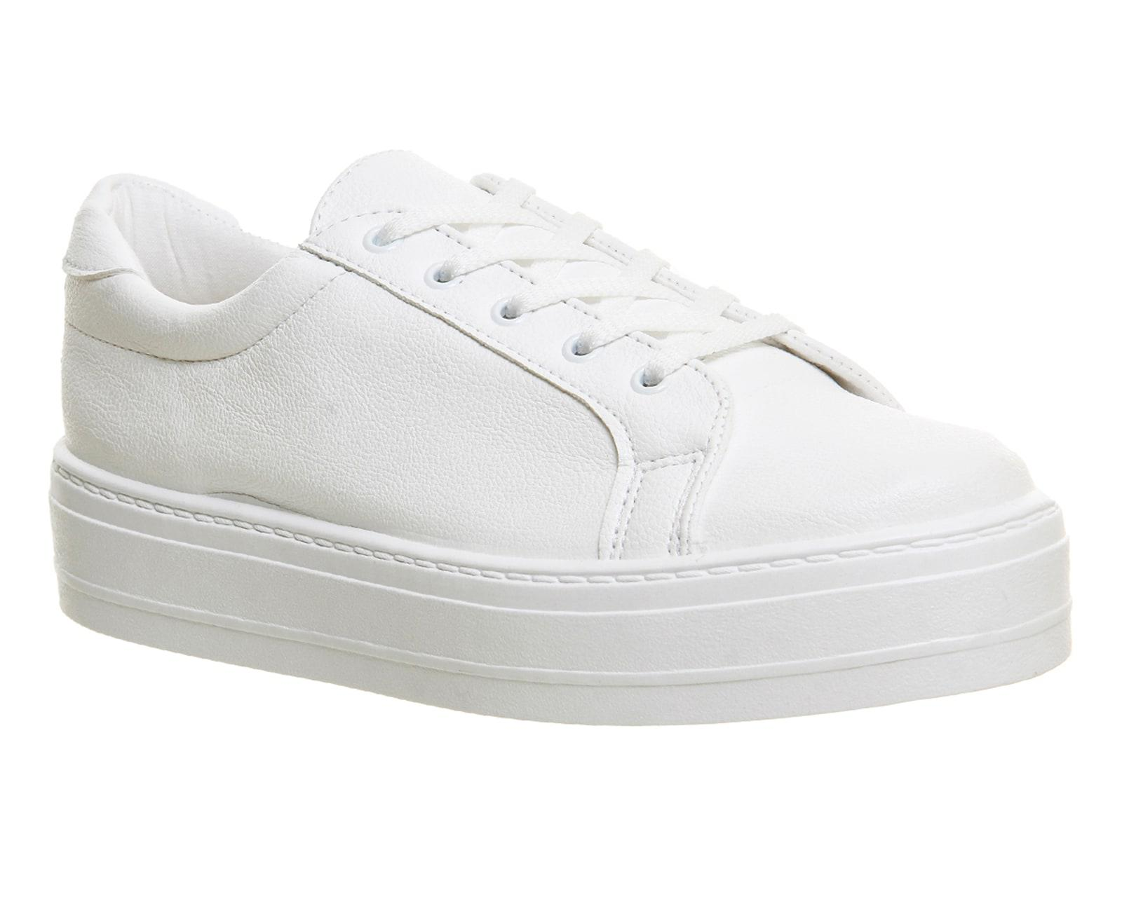 wholesale price 100% genuine hot product Office White Diva Flatform Lace Up Trainers