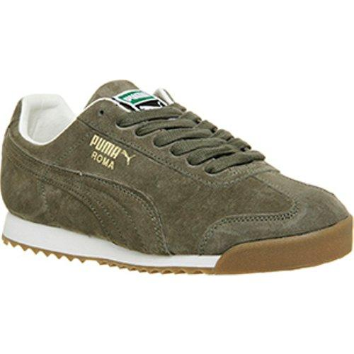 PUMA Suede Roma in Olive Green & White (Green) for Men - Lyst