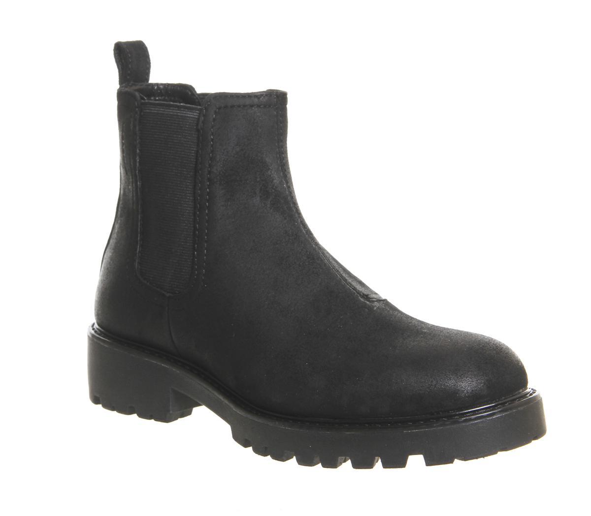 Vagabond Suede Kenova Chelsea Boots in Black