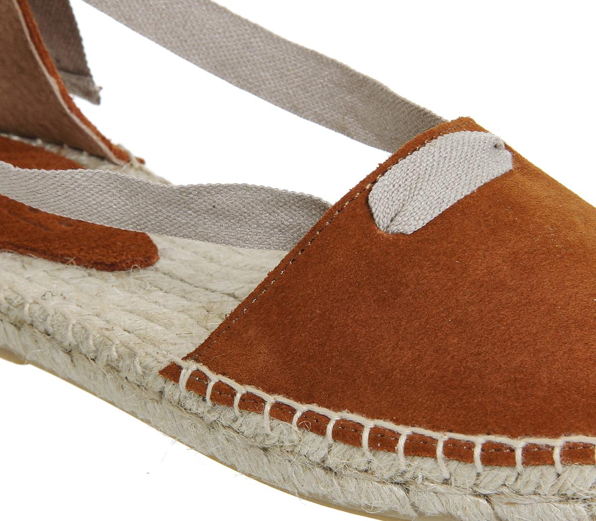 f2ec750271213 Lyst - Office Drummer Two Part Lace Up Espadrilles in Orange