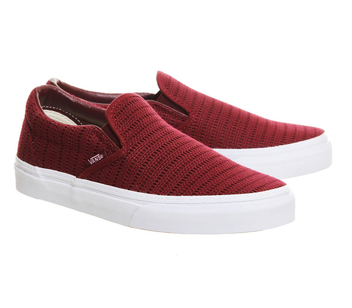 Vans Off The Wall Shoe Logo Red White