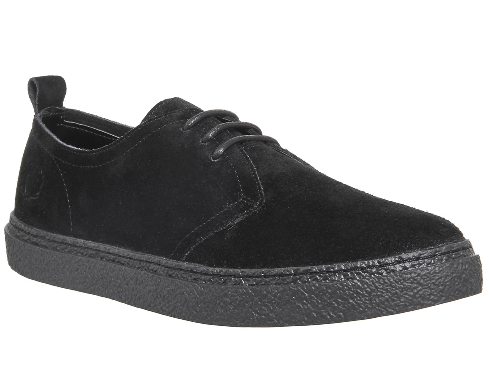 Fred Perry Suede Linden Shoes in Black