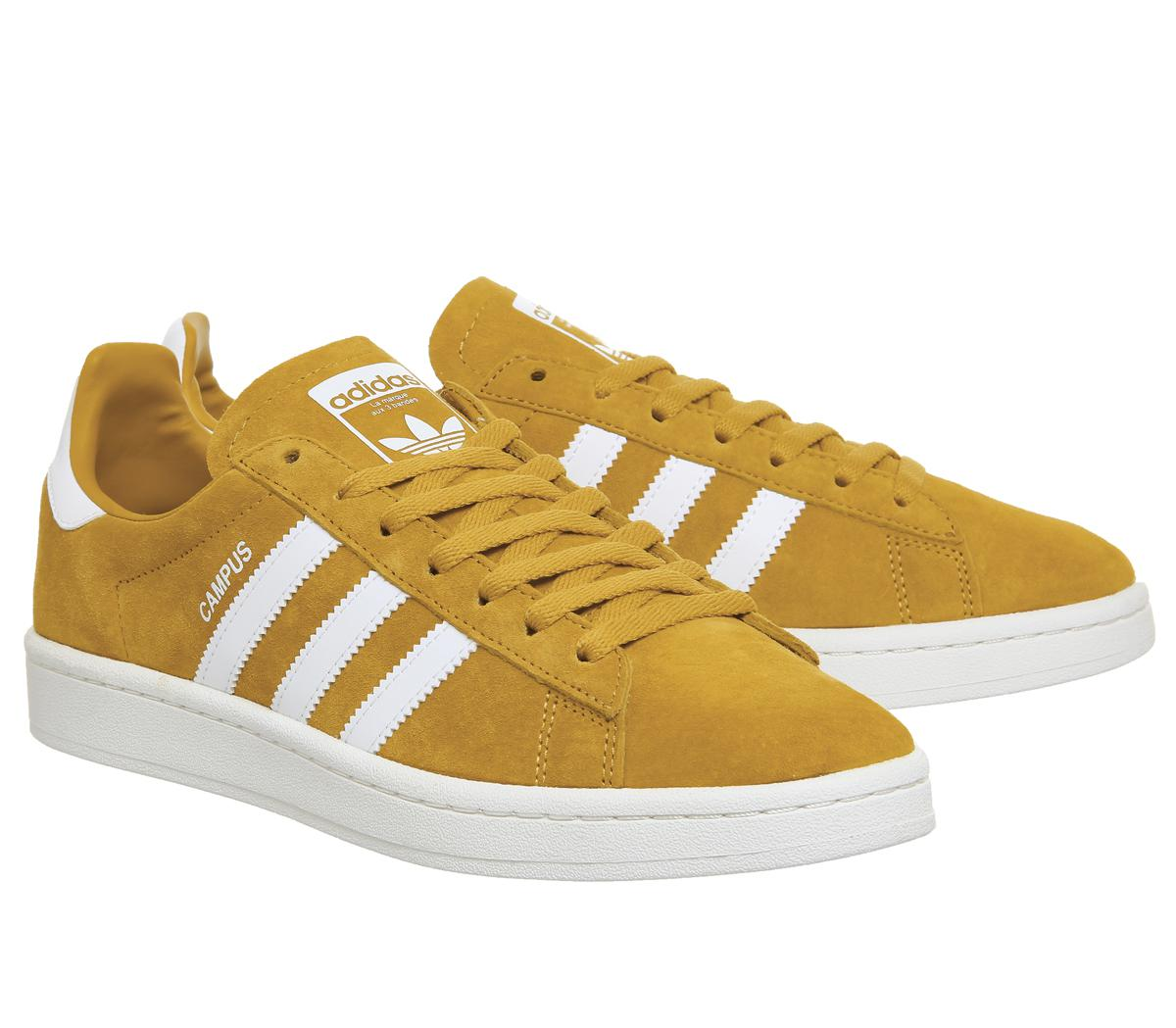 adidas Suede Campus Trainers in Yellow