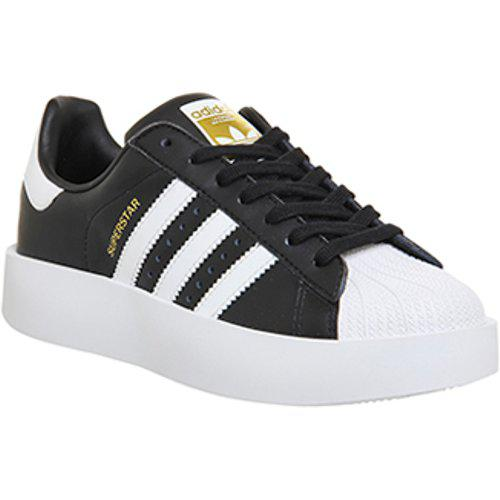 adidas Leather Superstar Bold in Black