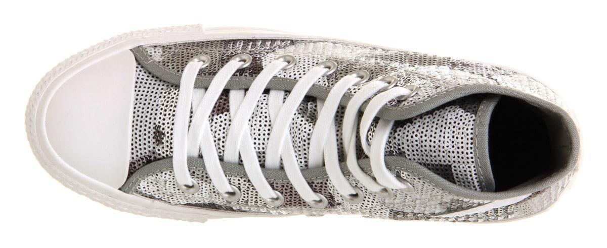 Converse All Star Hi in Silver (Metallic) for Men
