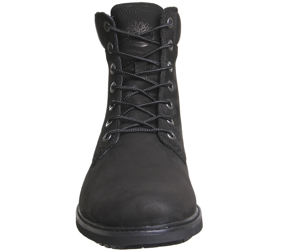 timberland mens slim 6 inch boots black nubuck