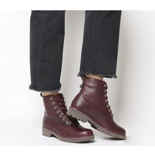Timberland Leather Lux Boot An in Red