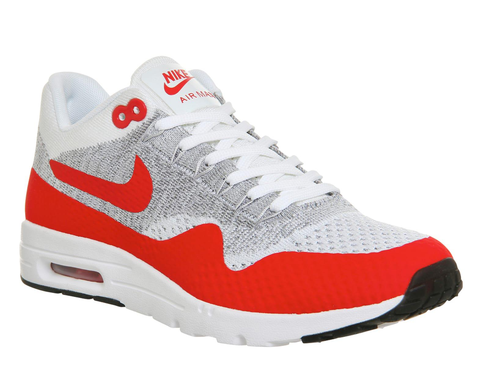 lyst nike air max 1 ultra flyknit in red for men. Black Bedroom Furniture Sets. Home Design Ideas