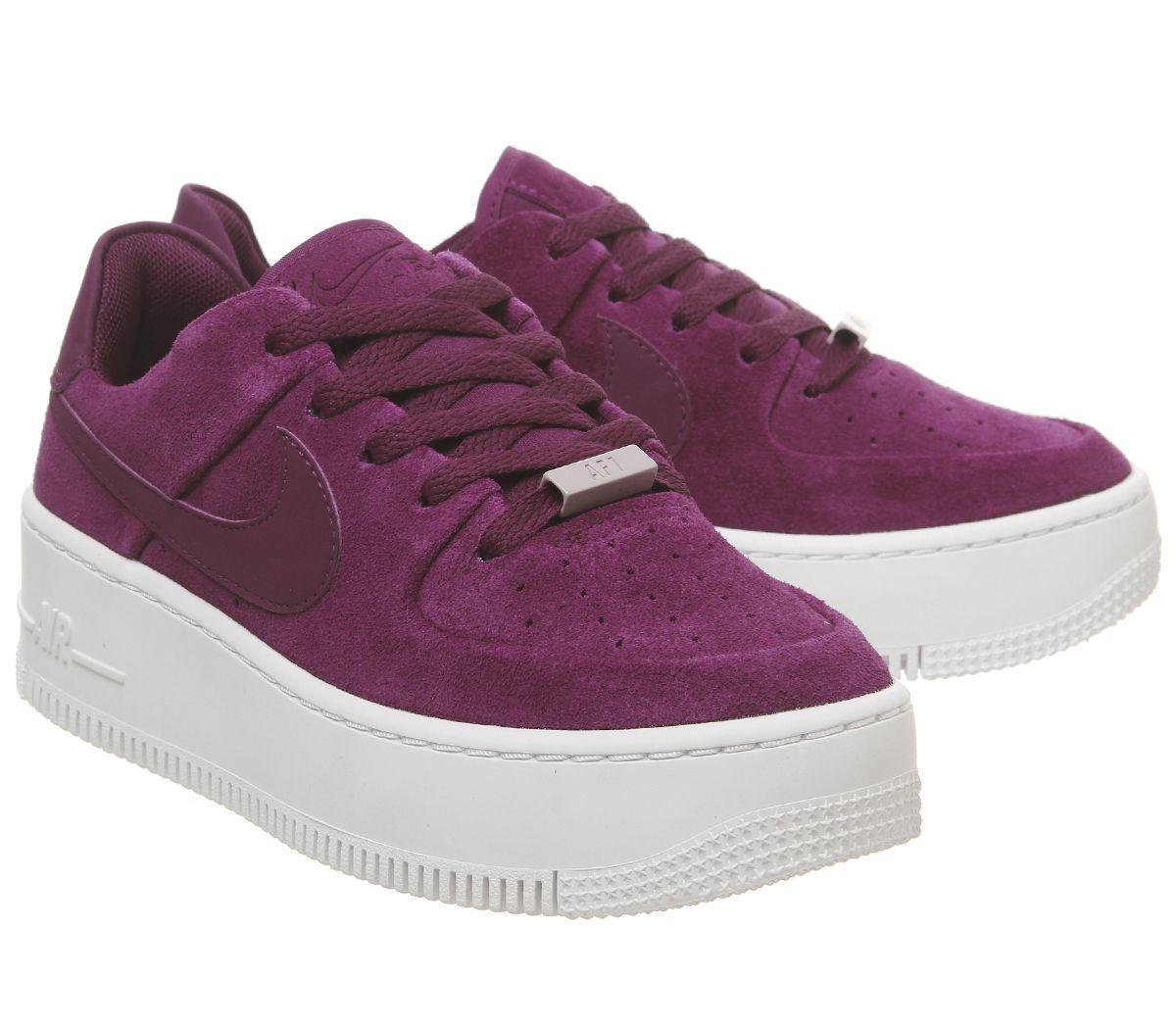 Nike Suede Air Force 1 Sage in Purple