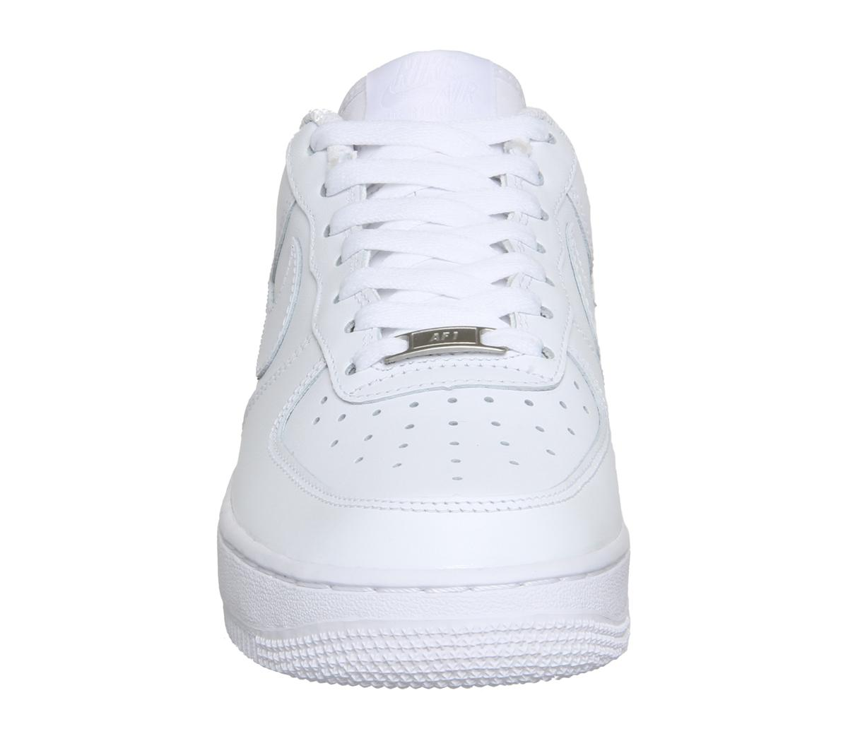 sale retailer 36c14 4ec7e Lyst - Nike Air Force 1 Leather Sneakers in White