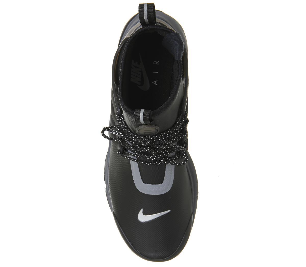 Nike Neoprene Air Presto Mid Utility in Black for Men