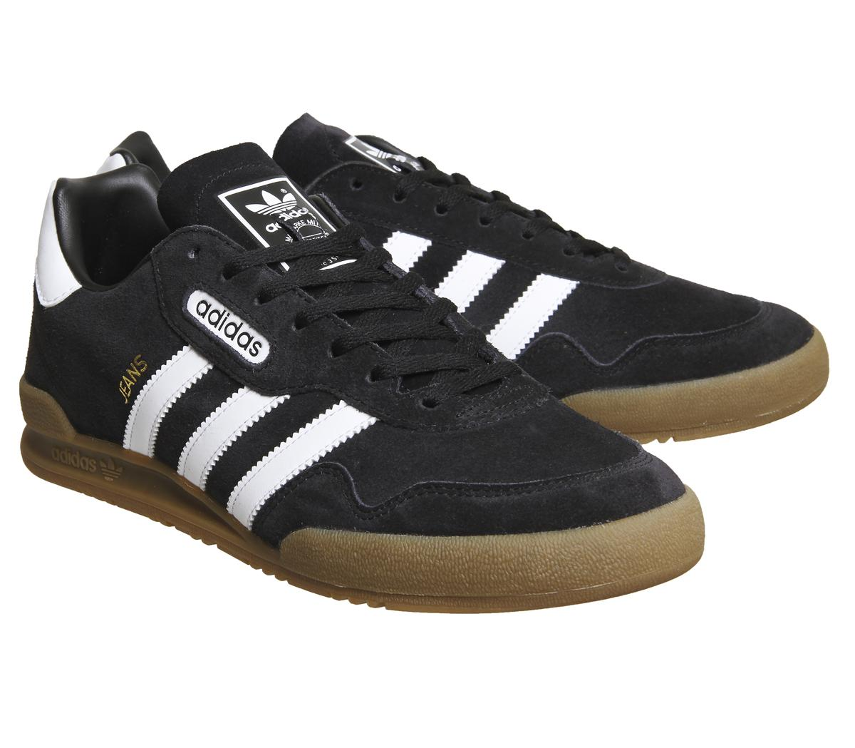 adidas Denim Jeans Super Trainers in Black White (Black) for Men