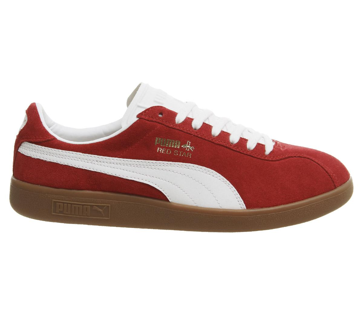 cde57ff7 PUMA Suede 366662 01 Red Star for Men - Lyst