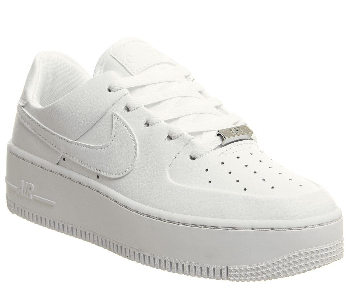ae960817690f Nike Air Force 1 Sage Trainers in White - Save 23% - Lyst