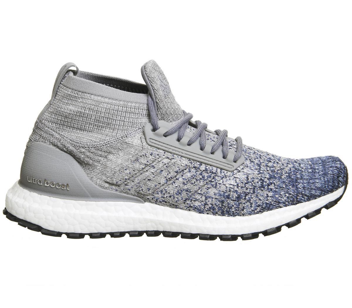 adidas Rubber Ultraboost All Terrain, Heather/grey/noble Indigo, 6.5 M Us in Grey for Men