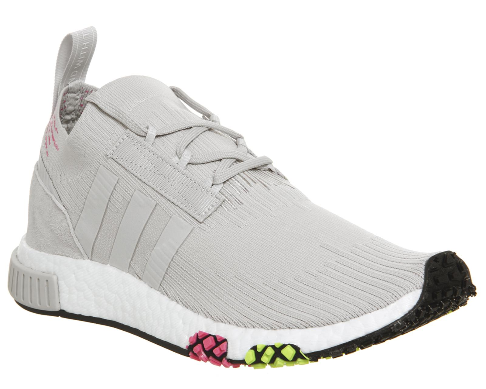 sports shoes 5f0e9 1c17a adidas. Mens Gray Nmd Racer Primeknit Trainer