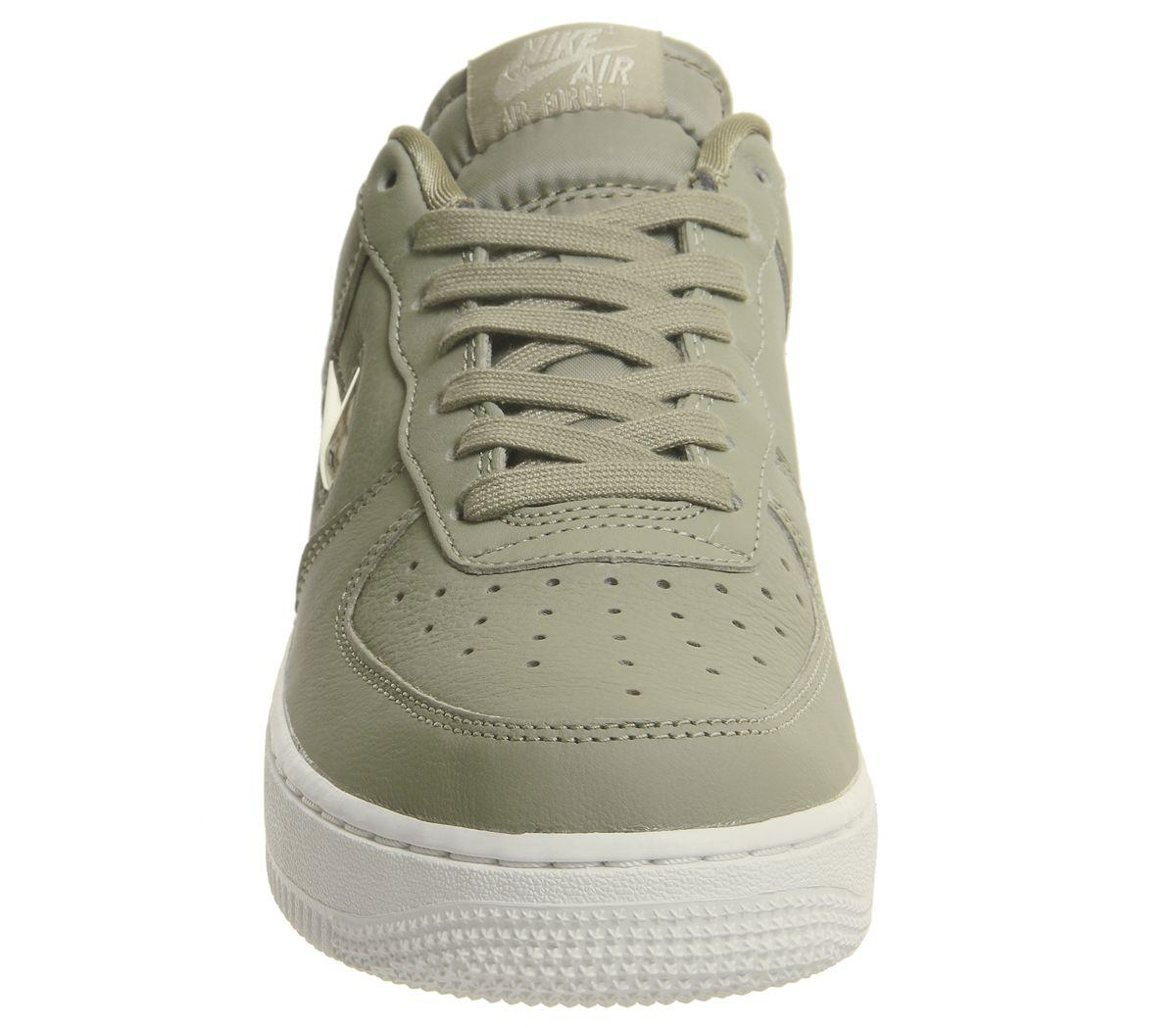 Nike Leather Air Force 1 Jewel Trainers