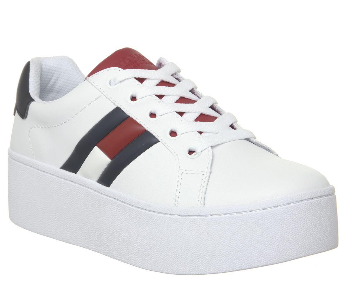Tommy Hilfiger Leather Flag Sneaker