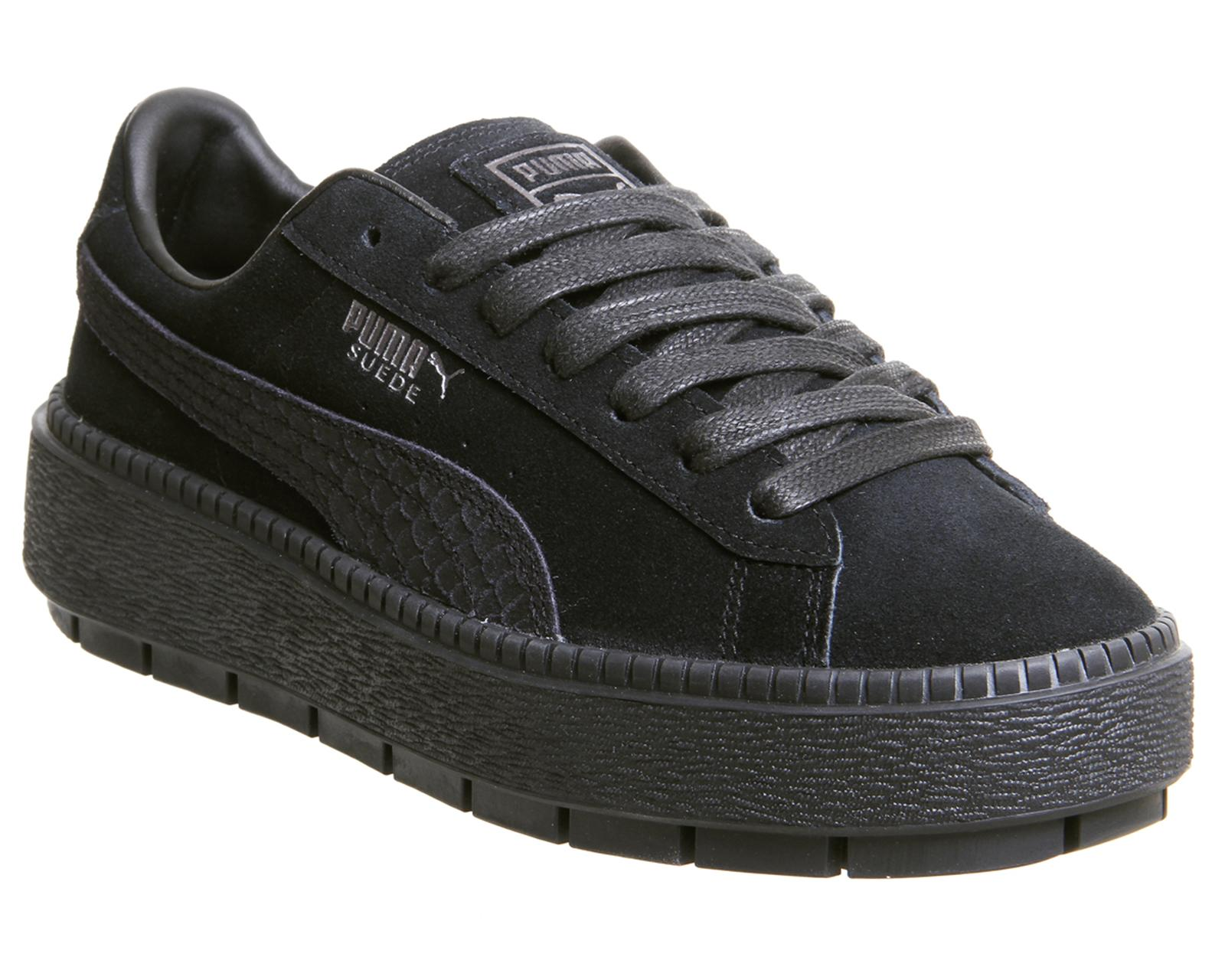 PUMA Suede Platform Trace Trainers in
