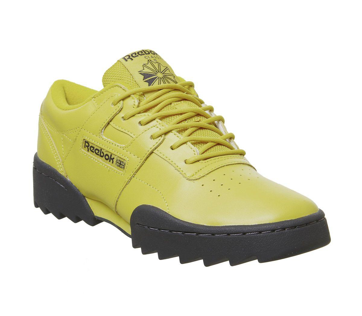 15710c022fb1e Lyst - Reebok Workout Ripple Trainers in Yellow for Men
