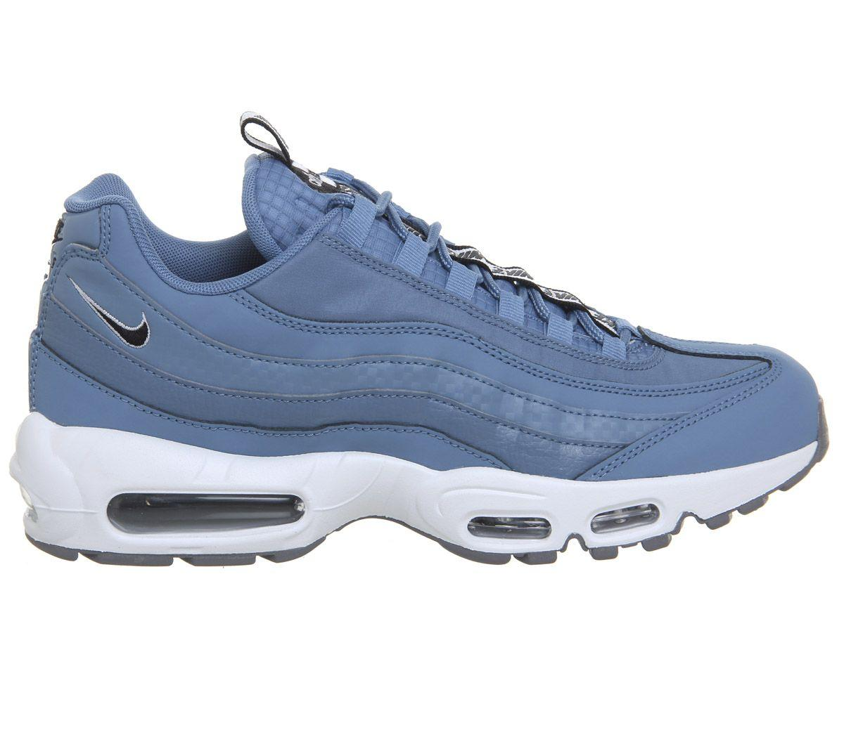 Nike Leather Air Max 95 Trainers in Blue for Men