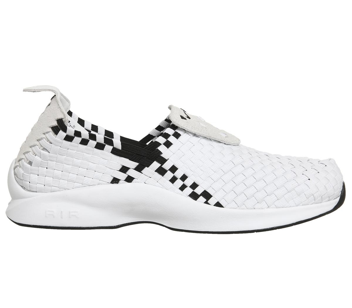 Nike Rubber Air Woven Trainers in White Black (White) for Men
