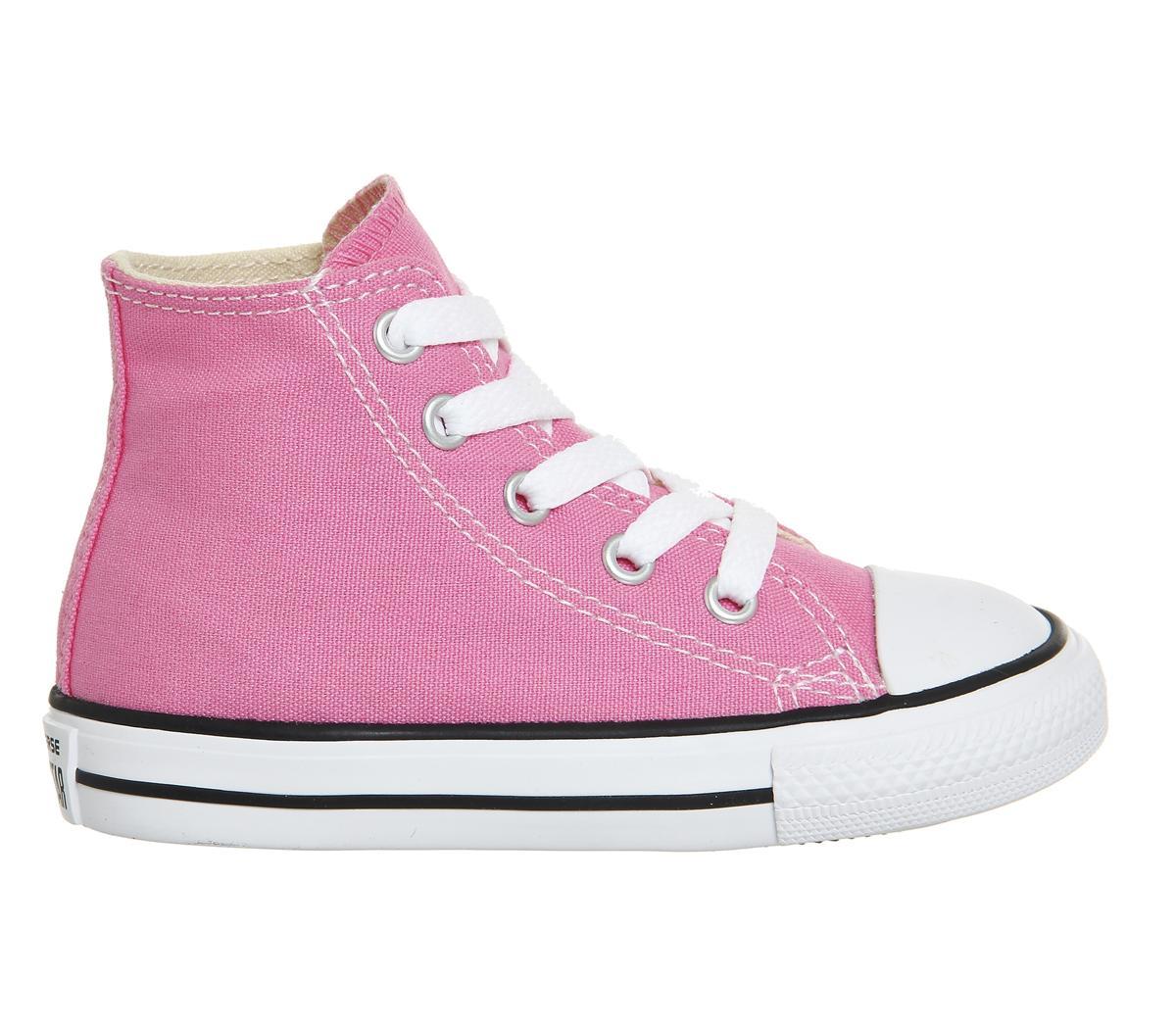 1a61725c5433 Converse - Pink Small Star Hi Canvas - Lyst. View fullscreen