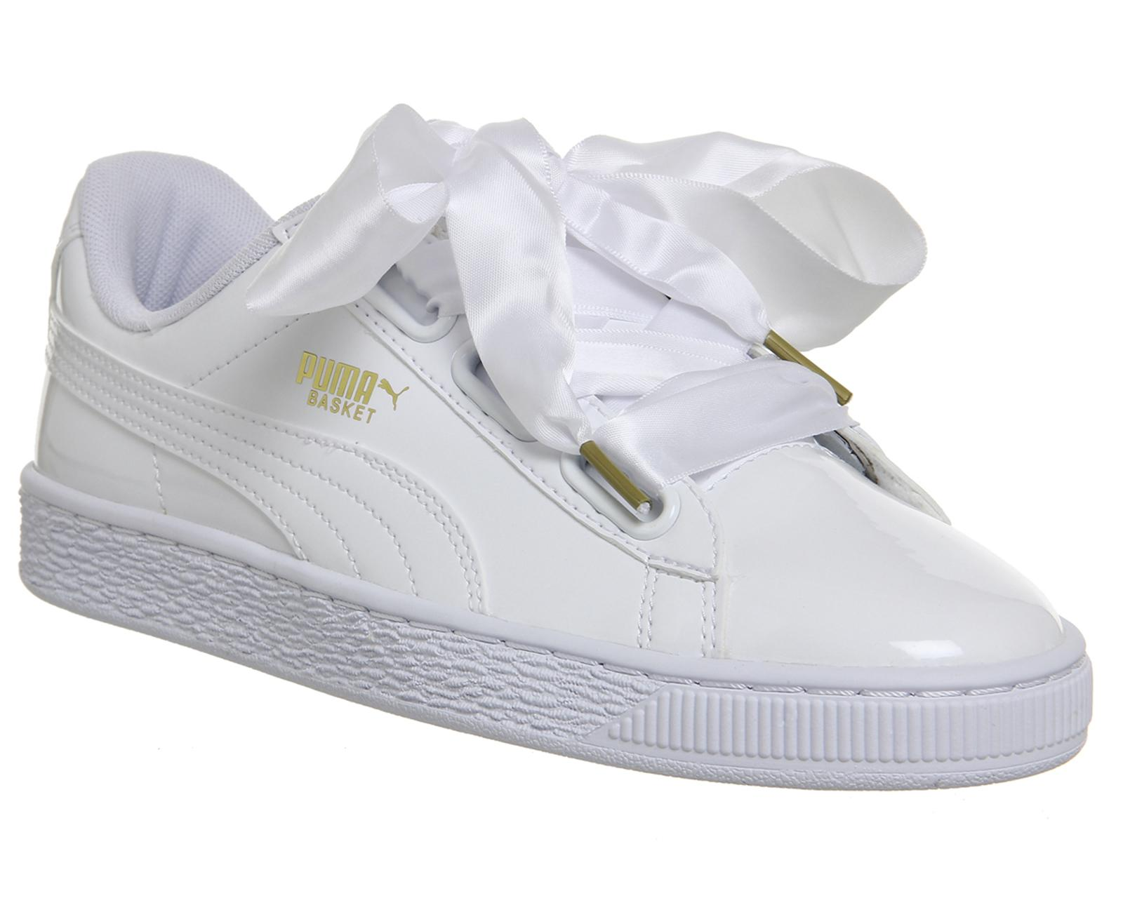 0b7bf1d6613 Lyst - PUMA Basket Heart Trainers in White