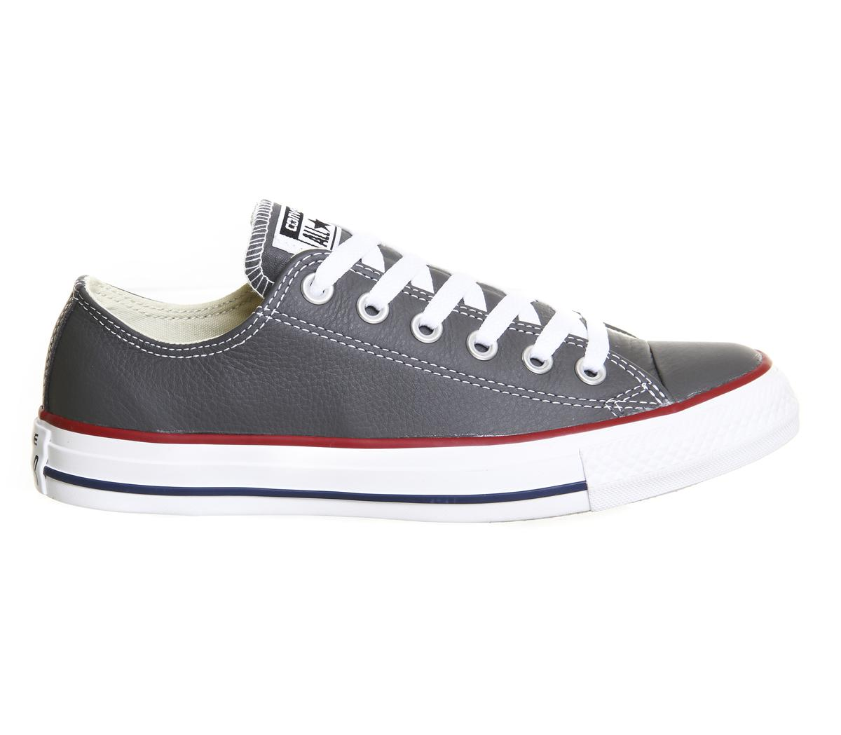 lyst converse all star low leather for men. Black Bedroom Furniture Sets. Home Design Ideas
