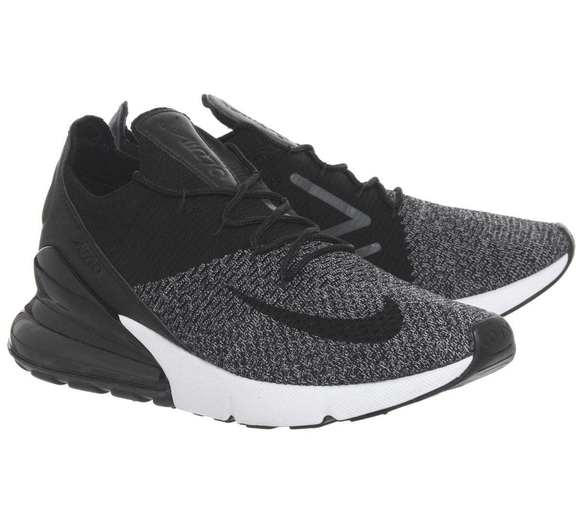 145a0a3928d1 Nike - Black Air Max 270 Flyknit Trainers for Men - Lyst. View fullscreen