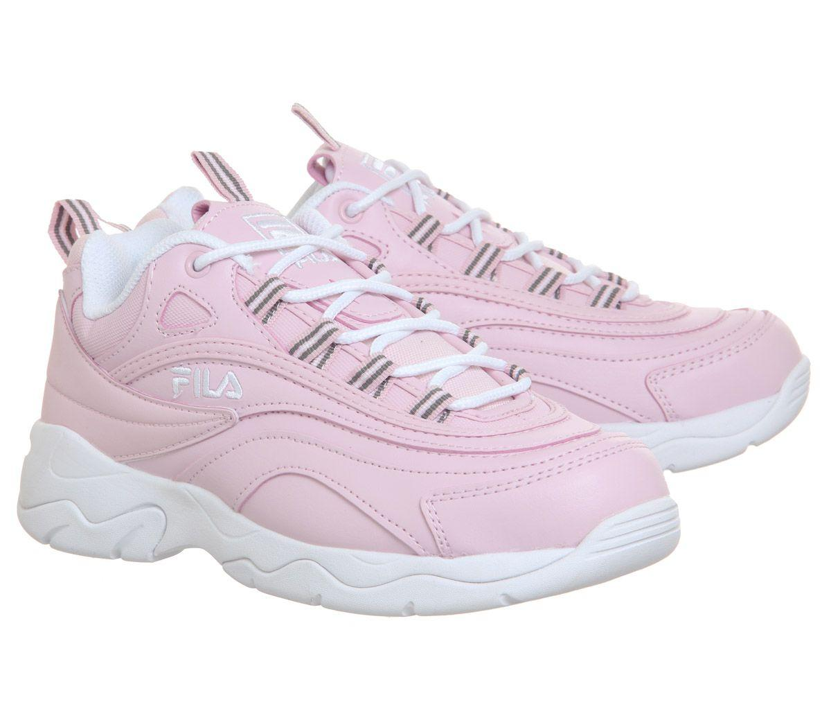 Fila Leather Ray Trainers in Chalk Pink