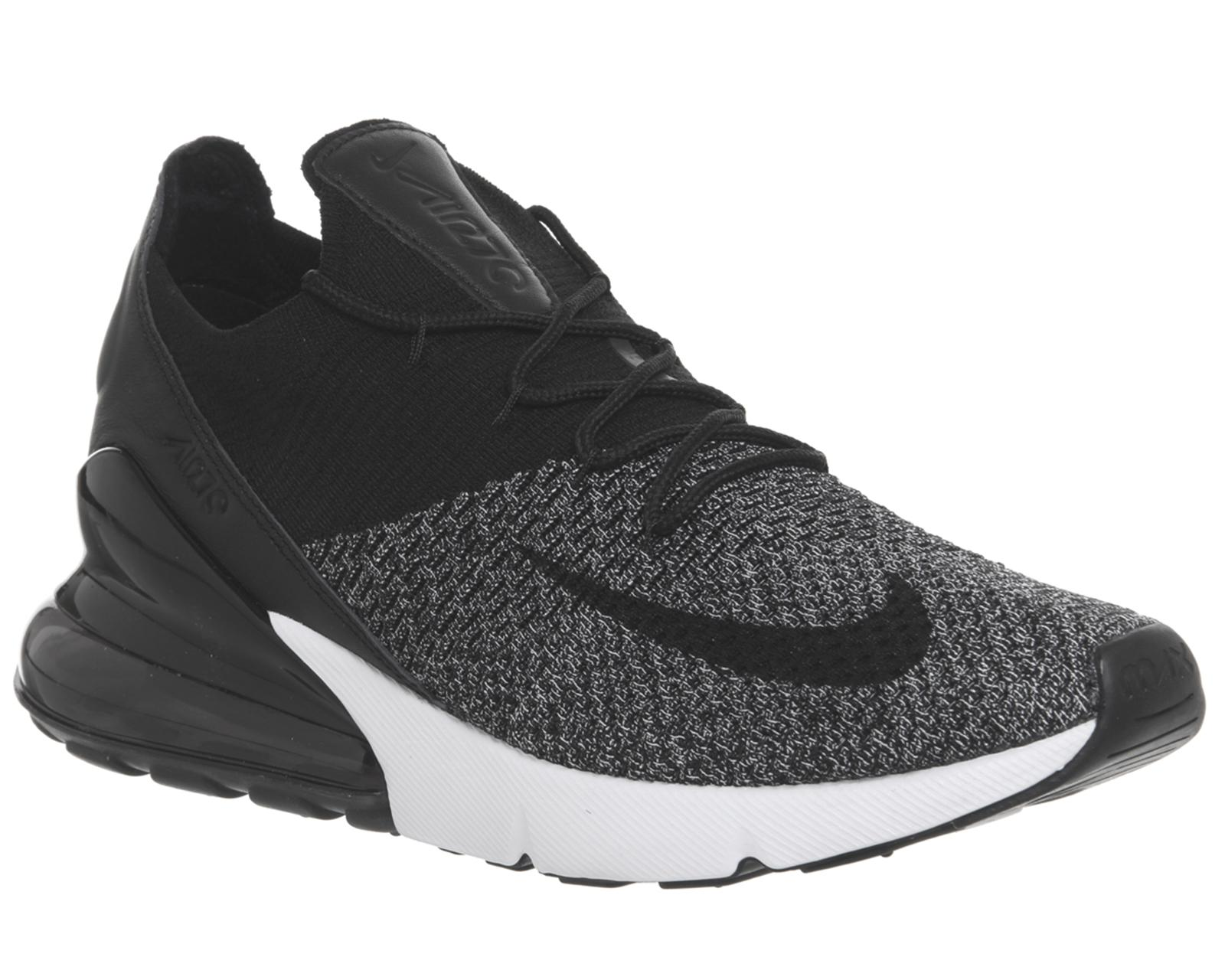 6697cceb2240 Nike Air Max 270 Flyknit Trainers in Black for Men - Lyst