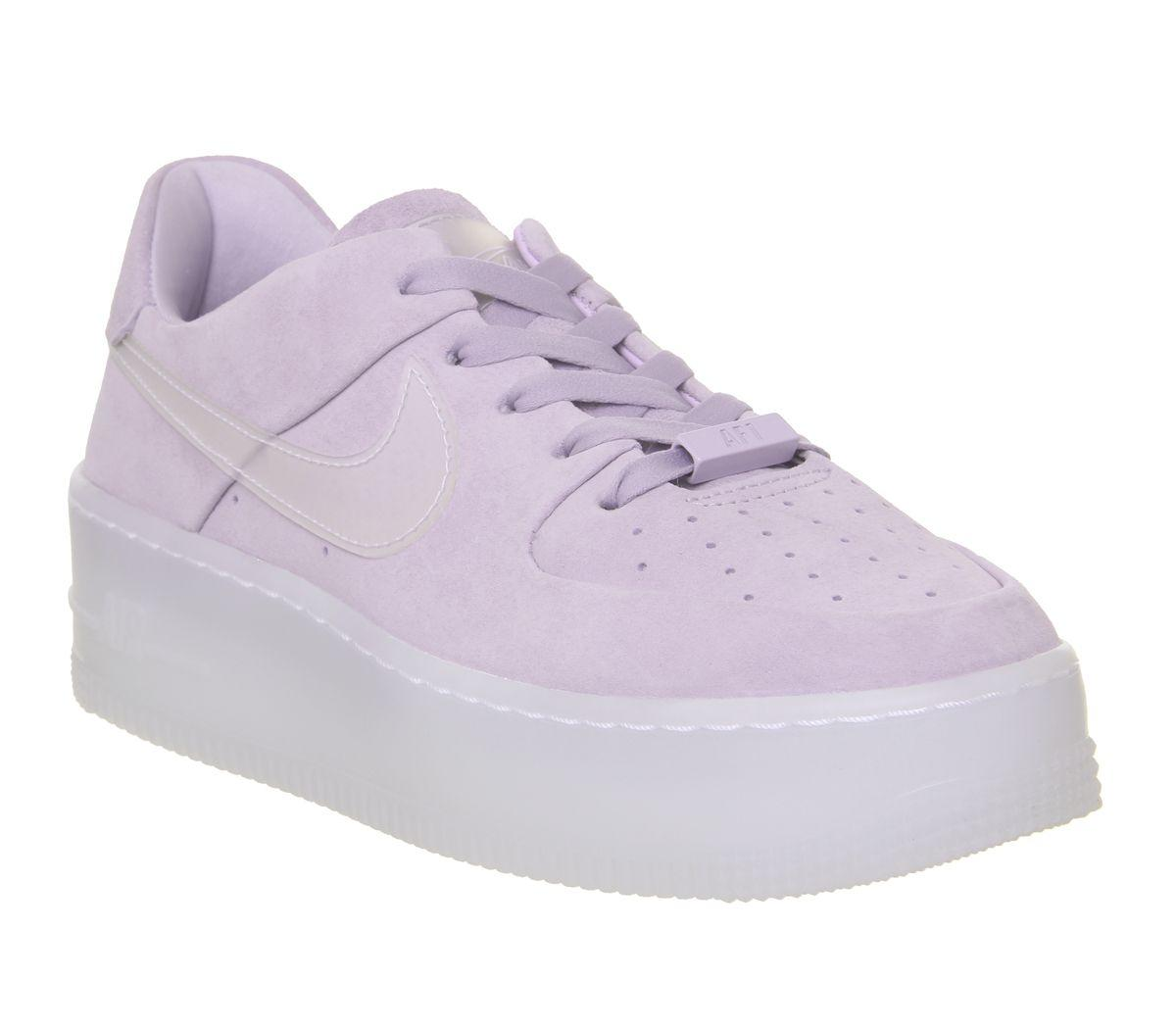 Nike Rubber Air Force 1 Sage in Purple