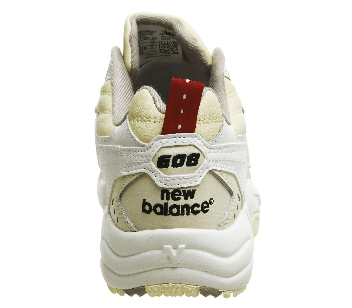 único Comparación botella  New Balance Leather 608 Trainers in White Cream (White) - Lyst