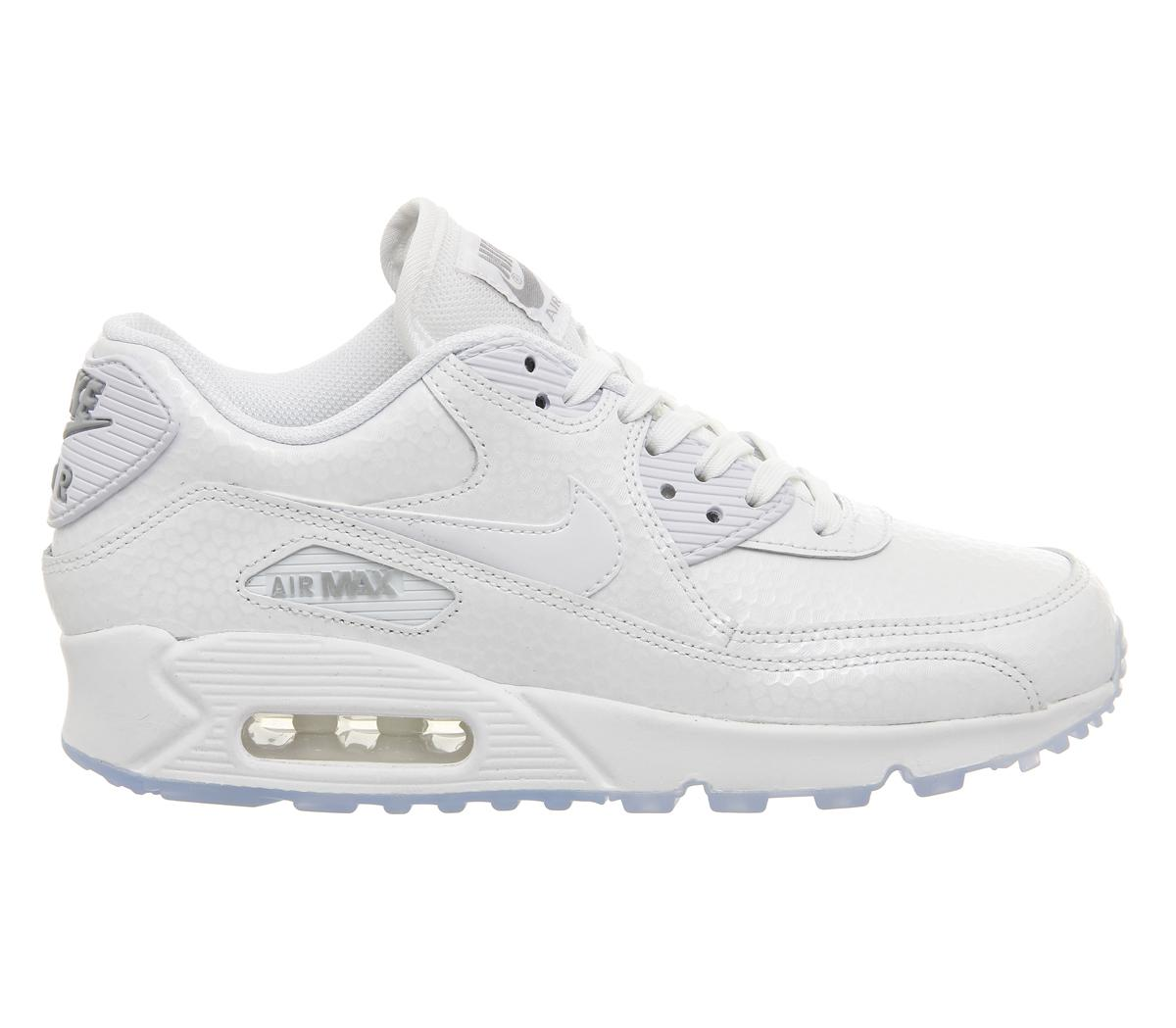 57d6e61f88 Nike Pearl Air Max 90 Lizard-Effect Low-Top Sneakers in White - Lyst