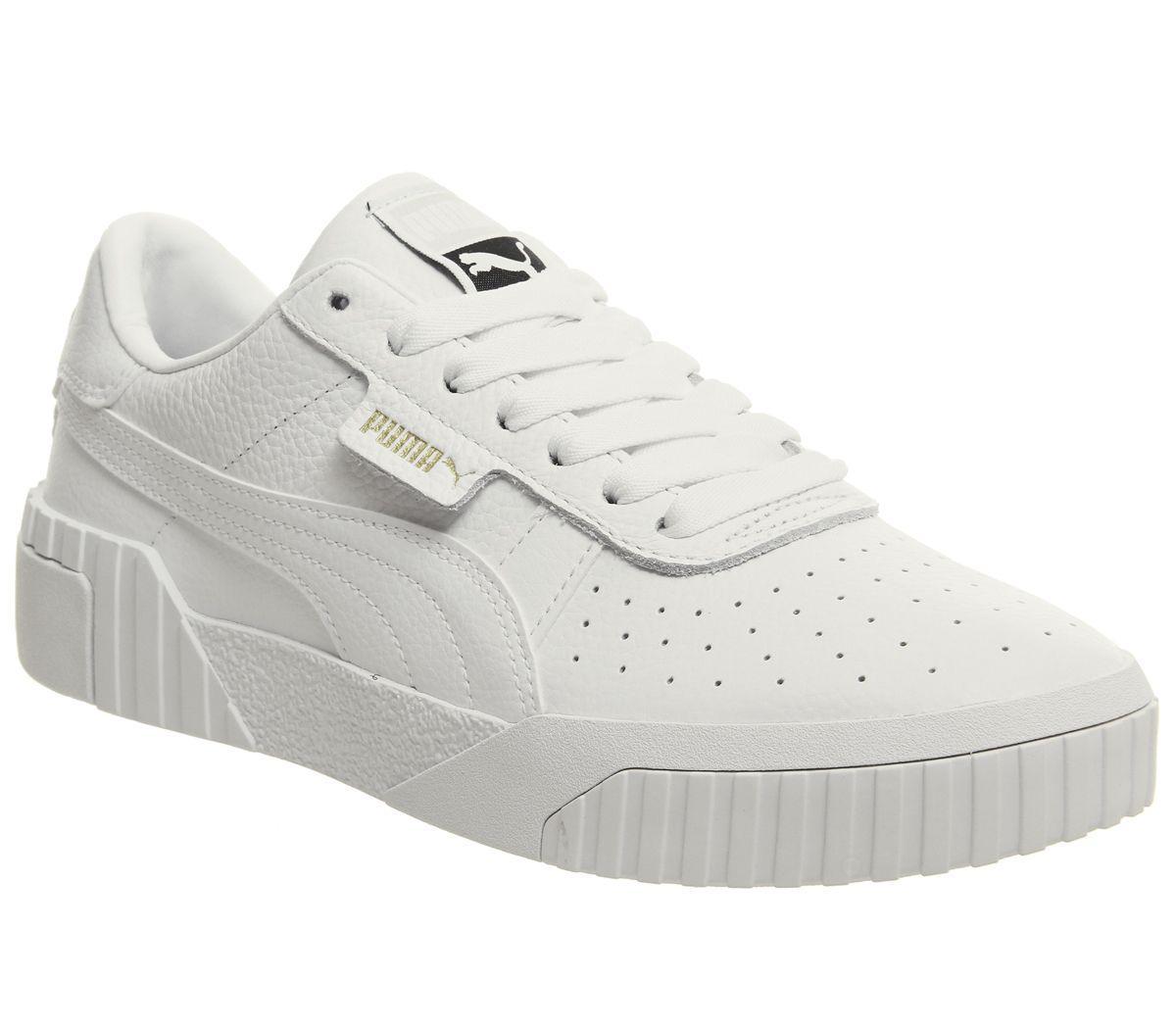 PUMA Leather Cali Trainers in White